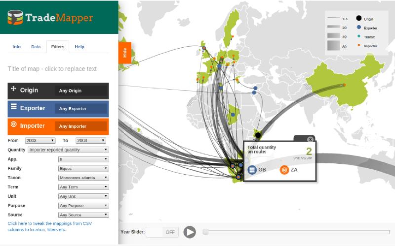 Trademapper Interactive Map Aptivate